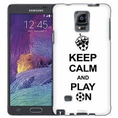 Samsung Galaxy Note 4 KEEP CALM And Play On - Soccer on White Slim Case
