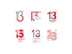 Invictus Anniversary Logo by Muhammad Isya on Dribbble Typography Logo, Logo Branding, Typography Design, Branding Design, Lettering, Type Logo, 10 Logo, 13th Anniversary, Graphisches Design