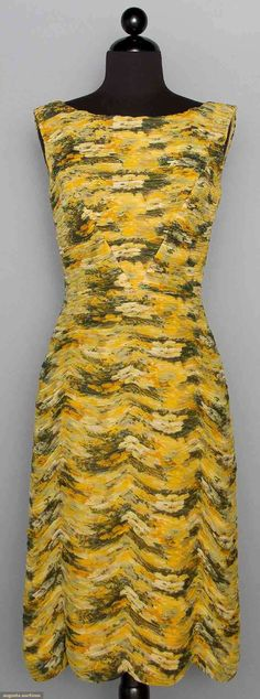 Printed Chiffon Sheath, 1950s, Augusta Auctions, November 12, 2014