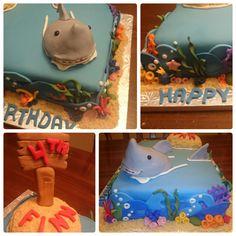 Details of Shark Birthday Cake