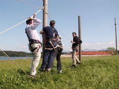 #Bodenparcours und #Niederseilgarten