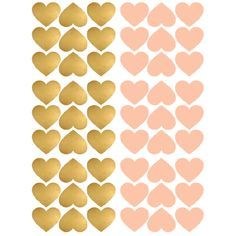 Pom Gold and Pink Heart Wall Decals Girl Room, Girls Bedroom, Baby Room, Bedroom Decor, Wall Stickers, Wall Decals, Wallpaper Wall, Baby On The Way, Pink Walls