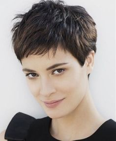 Traditional short pixie cut for thick hair