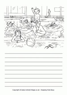 Here's a colouring page and writing lines designed to encourage your child to write about a visit to the zoo. 5th Grade Writing Prompts, Narrative Writing, Teaching Writing, Writing Skills, Hindi Worksheets, Shapes Worksheets, 2nd Grade Worksheets, Picture Story Writing, Writing Pictures