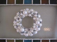 Finding Happyfull: white Christmas ornament wreath tutorial