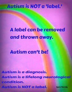 Autism is NOT a label (one of my pet hates is when people call it that!!) #autism #asd #specialneeds #pdd-nos
