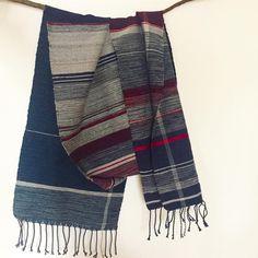 大人の男の人のマフラー。  #さをり #さをり織り #SAORI #手織り #Weaving #saoriweaving #handwoven #woven #fashion #wool #ウール