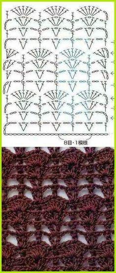 Para ti que buscas nuevos puntos para tejer al crochet, te comparto algunos variados para agregues a tu colección. Abajo verás los diagram...