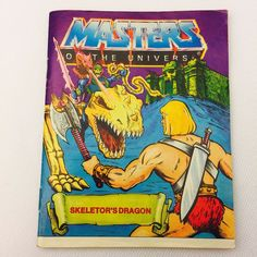 SKELETORS DRAGON Mini Comic 1984 He-Man Masters of the Universe MOTU
