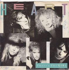 """Heart / There's The Girl / Bad Animals 7"""" Vinyl 45 RPM Jukebox Record & Picture Sleeve #AnnNancyWilson #rock #music"""