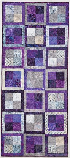 various frames for blocks in one quilt