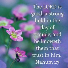 Nahum 1:7 KJV