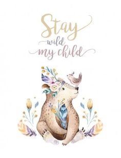 Bear Watercolor, Watercolor Pattern, Watercolor Animals, Bohemian Baby, Boho, Baby Illustration, Forest Illustration, Watercolor Illustration, Polar Animals