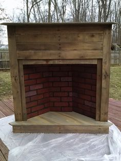 Pallet Faux Fireplace