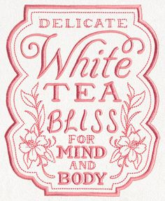 Teapothecary - White Tea | Urban Threads: Unique and Awesome Embroidery Designs