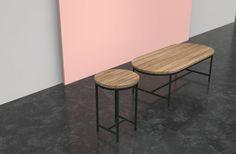 Milan: Contour Tables for Vincent Sheppard by Alain Gilles