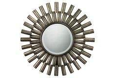 Hartford Sunburst Wall Mirror, Silver on OneKingsLane.com