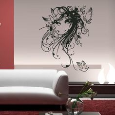 Wall Decal Art Decor Decals Sticker Fashion Woman Flowers Butterfly Pigeon Grass Poster Hair Modern Lady Bedroom (M30) DecorWallDecals http://www.amazon.com/dp/B00FPPNLVA/ref=cm_sw_r_pi_dp_V7NXub0NMBHDZ