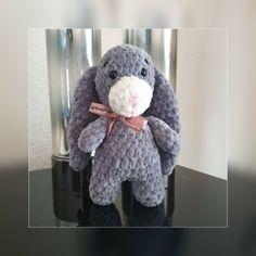 Crochet, Dinosaur Stuffed Animal, Artisan, Toys, Animals, Rabbits, Handkerchief Dress, Purse, Activity Toys
