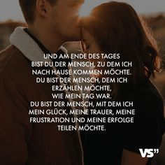 Visual Statements® And at the end of the day you are the person I went to . - Visual Statements® And at the end of the day you are the person I want to come home to. Real Love Quotes, Love Quotes For Him, Happy Quotes, Positive Quotes, Funny Quotes, Quotes About Love And Relationships, Relationship Quotes, Couple Quotes, Family Quotes