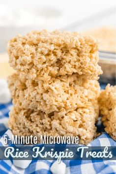 This Rice Krispie Treat recipe is foolproof! They never come out hard or dry and it is less mess than making them over the stove! #ricekrispietreats #microwaverecipe #easyricekrispies #ricekrispies #FavoriteFamilyRecipes