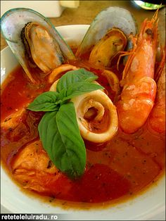 Tomato soup with seafood.. omg dont you just love this beauty?