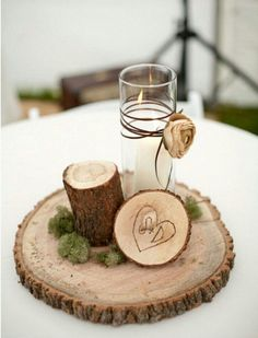 Forest-Inspired Centerpiece - For Modern Brides: 25 Fabulous Wedding Centerpieces Without Flowers - EverAfterGuide