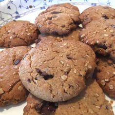 Peanutbutter Cookies, Baking Recipes, Peanut Butter, Biscuits, Bacon, Food And Drink, Appetizers, Sweets, Chocolate