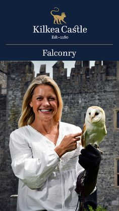 The majesty of falcons, owls, and hawks can be experienced amidst the backdrop of the historic Kilkea Castle.
