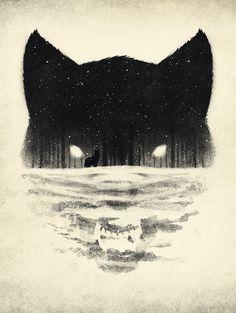 Wolfy by Dan Burgess, https://society6.com/artist/DannyB