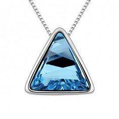 #Jeulia - #Jeulia Triangular Aquamarine Crystal  Women's Pendant Necklace - AdoreWe.com