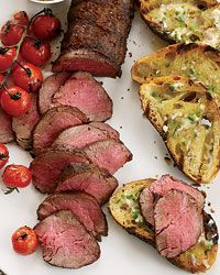 Grilled Beef Tenderloin with Ancho-Jalapeno Butter - i would like mine a little more rare, like alot more rare, with horseradish sauce. dt