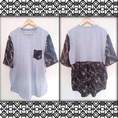 Camiseta masculina camuflada. $50 Por encomenda, todas cores e tamanhos. #tega