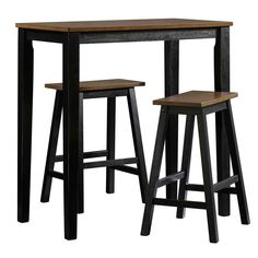 Intrigue a great value to your dining space by adding this durable Beginnings Cherry and Black Bar Table Set from SAUDER. Rustic Table, Diy Table, Wooden Tables, Bar Table Sets, Bar Tables, Outdoor Patio Bar Sets, Table For Small Space, Counter Height Dining Sets, Pub Set