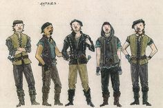 Ever After musical costume concept art - Jess Goldstein - Gypsies