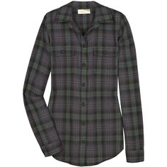 Elizabeth and James Bonfire cotton-blend shirt ($165) ❤ liked on Polyvore featuring tops, blouses, shirts, blusas, women, button front blouse, tartan blouse, tartan shirts, button shirt and tartan plaid shirt