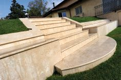 Cover, stairs and external coverings in STONE COLISEUM TRAVERTINE POLISHED AND STUCCOED // Valsecchi SA