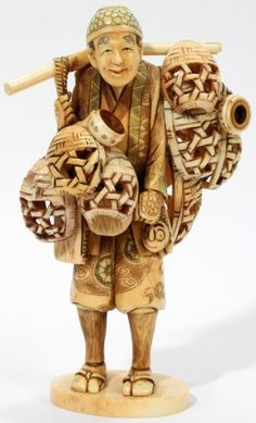 Mammoth Ivory Carvings, Netsuke and Snuff Bottles for Sale at El Cid Gallery www.elcidgallery.com