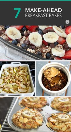 7 Oatmeal Bakes for the Perfect Make-Ahead Breakfast #baked #casserole #breakfast