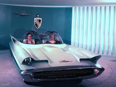 1955 Lincoln Futura Concept Car -- in 1965 George Barris brought it to the world as the Batmobile!