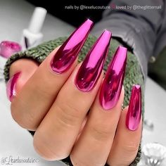 chrome nails 24 Best Chrome Nail Art Design This Year - Long Nail Designs, Nail Art Designs, Nails Design, Awesome Nail Designs, Unique Nail Designs, Perfect Nails, Gorgeous Nails, Chrome Nail Art, Pink Chrome Nails