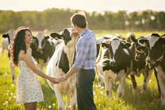 """Previous pinner said """"I'd love to incorporate my small town/country lifestyle into my engagement pictures, just like this."""" This is so cute"""