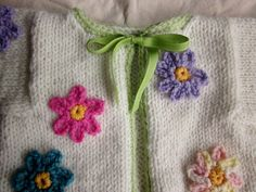 baby sweater flower hand knit