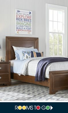 The Belcourt panel bed and matching pieces feature straight lines creating a clean, contemporary aesthetic.