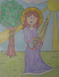 Immaculate Conception Coloring Sheet  Catholic Crafts