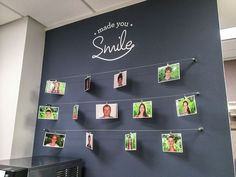 Test Monki, Magness Orthodontics, photo wall, chalkboard, dental, dentist, office, orthodontist, metal clips: