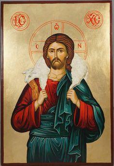 Jesus The Good Shepherd Hand-Painted Byzantine Icon