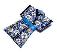 Blue Kimono Polymer Clay Pin Handmade Brooch by SweetchildJewelry, $15.00 #ctteam