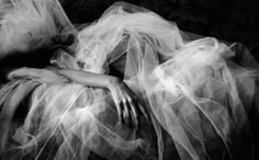 Buried under tulle. Fabulous!