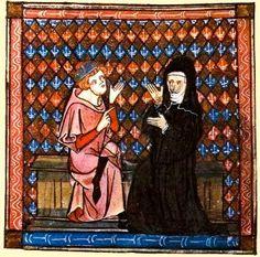 Petrus Abelardus & Heloise in 'Le Roman de la Rose' eeuw) Portraits, Les Oeuvres, Pallet, Roman, Author, Painting, Persona, Philosophy, Places